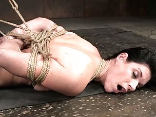 Slender Mummy India Summer Is Tied Up And Fucked Right On The Floor