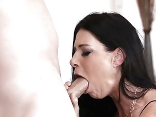 Beautiful India Summer Makes That Yam-sized Implement Dissolve In Her Mouth