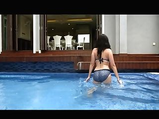 Evelyn Sharma Swimsuit Big Rump
