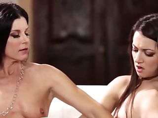 India Summer And Lily Adams Are Passionately Making Love And Scissoring While Alone At Home
