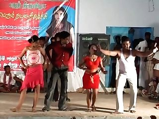 Tamilnadu Femmes Sexy Dance Indian Nineteen Years Old Night Songs'with Boy Dance F